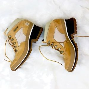 Tan Timberland Boots with Slight Heel